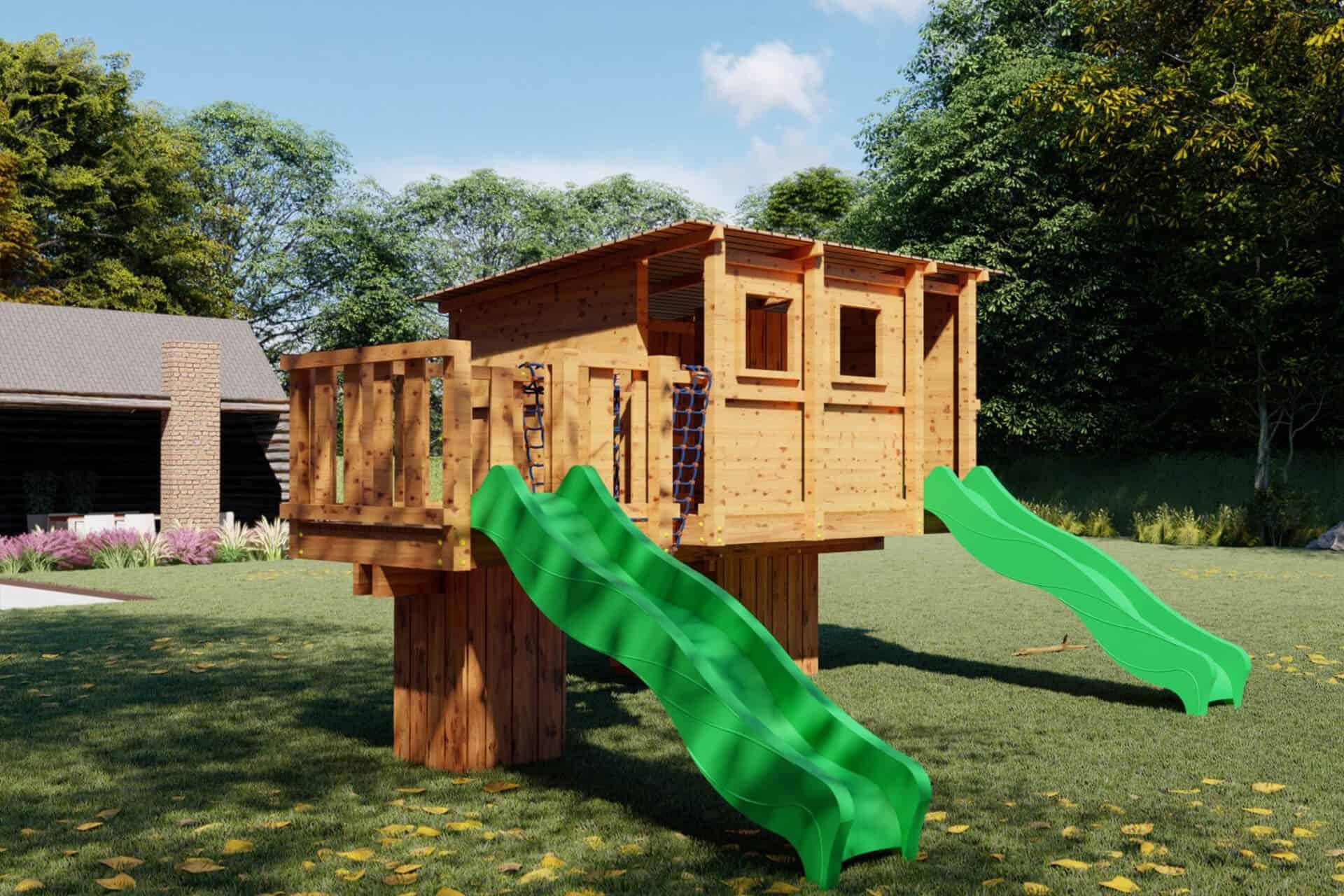 Speelhuis hout
