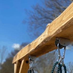 Constructie schommel kastanjehout